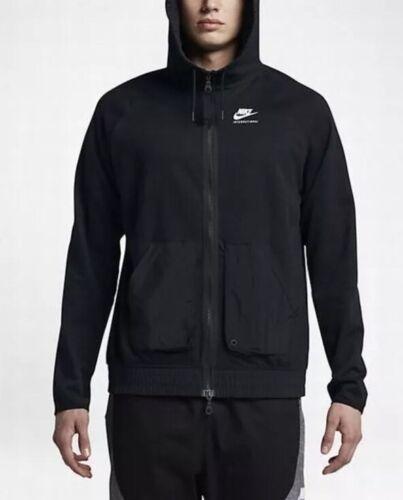 Intera E Nike S Internazionale Uomo Taglia Cappuccio 010 834312 Zip Nera Felpa xASxH