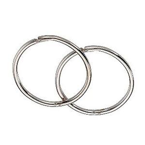 Image Is Loading 9ct White Gold 12mm Hinged Hoop Sleeper Earrings