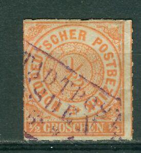 Norddeutscher-Bund-NDP-3-o-Sachsen-R3-Stadtpost-Dresden-in-violett-F-80-P