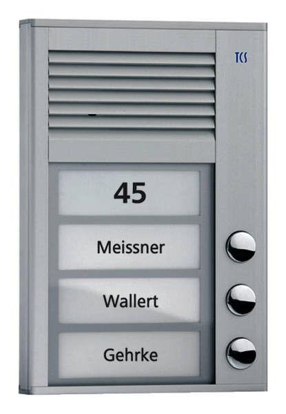 TCS PAK03-EN Aussenstation 3 Wohneinheiten Türstation alueloxiert 2-Draht