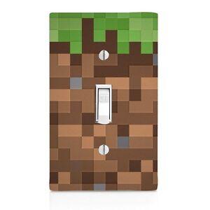 Pixel blocks wall plate light switch cover boys bedroom bathroom image is loading pixel blocks wall plate light switch cover boys aloadofball Choice Image