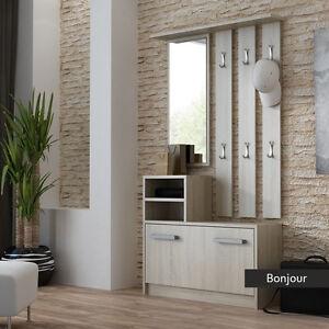 Entrata moderna Bonjour, mobile ingresso, corridoio con specchio e ...