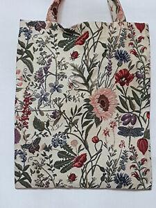 Blumen-Einkaufsbeutel-Sonnenblume-Marienkaefer-Libelle-Schmetterling-Gobelin