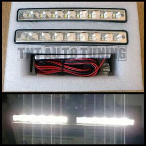 8-LED-de-circulacion-diurna-luces-de-conduccion-diurna-TFL-xenon-blanco-12v-e4-universal-2-x-4w-KFZ