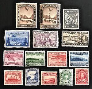 NEWFOUNDLAND-Vintage-Stamp-Collection-MH-MNH