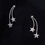 925-Sterling-Silver-Double-Shooting-Star-CZ-Drop-Jacket-Hug-Two-Way-Earrings thumbnail 5