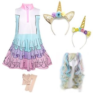 Simile-Lol-Unicorn-Vestito-Carnevale-Bambina-Tipo-Lol-Dress-Cosplay-LOLUNIC5-CL