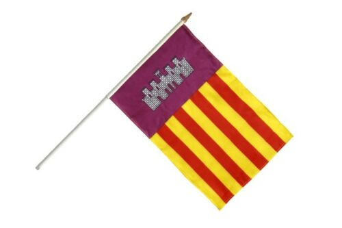 Spanien Mallorca Stockflagge Flaggen Fahnen Stockfahne 30x45cm