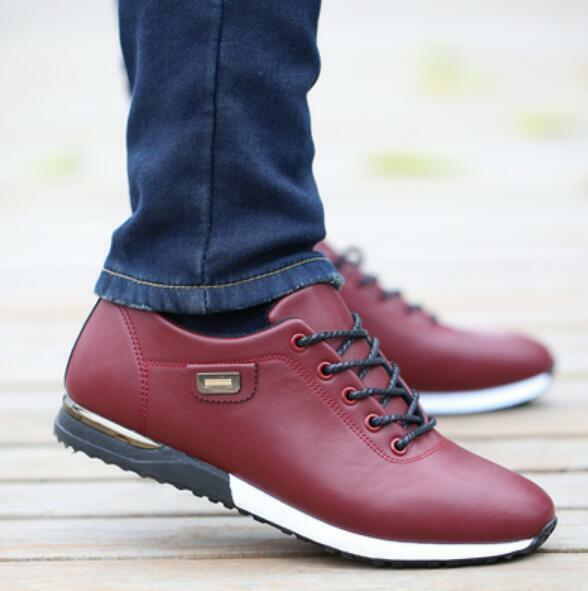 Mens Solid color Lace Up Comfort Non-slip Fashion Running Sport shoes Hot B565