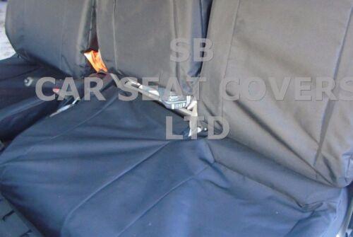 BLACK WATERPROOF SEAT COVERS 2012 TO FIT A NISSAN CABSTAR VAN