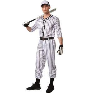 Costume-Giocatore-di-Baseball-Uomo-Adulto-Vestito-Halloween-Carnevale-Nuovo