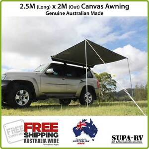 Image is loading 2-5m-x-2m-SUPA-PEG-ECO-RV-  sc 1 st  eBay & 2.5m x 2m SUPA-PEG ECO-RV 4X4 VEHICLE AWNING (4WD CAR HORSE ...
