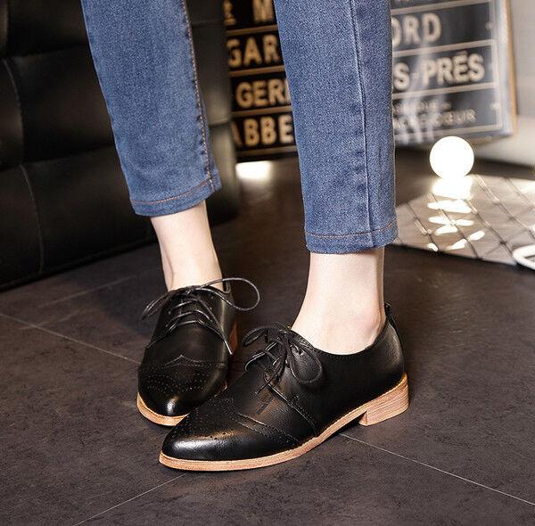 Stiefel schwarz elegant niedrig komfortabel 2.5 cm schwarz Stiefel schnürsenkel simil leder 11ecff