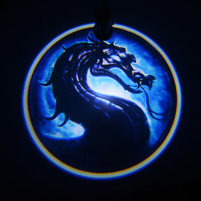 2x Cool Dragon god car door laser projector LED welcome logo shadow ghost light