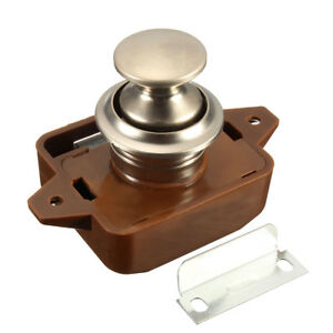 Push-Button-Catch-Lock-Cupboard-Door-Motorhome-Cabinet-Camper-Caravan-Latch-Knob