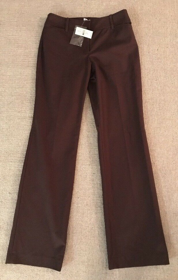 Ann Taylor Loft Women's Size 2 Ann Bootleg Stretch Brown Pants  59 NEW  D7