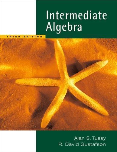 Available 2010 Titles Enhanced Web Assign: Intermediate Algebra by R  David  Gustafson and Alan S  Tussy (2006, Paperback, Revised) for sale online |