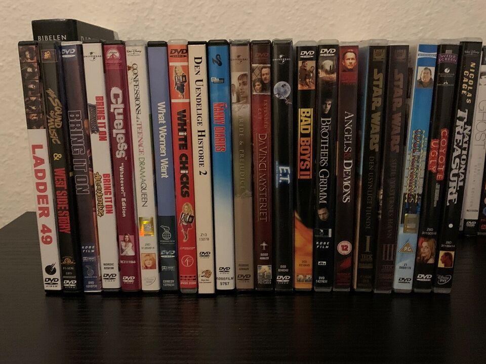 Diverse dvd-film sælges, DVD, andet