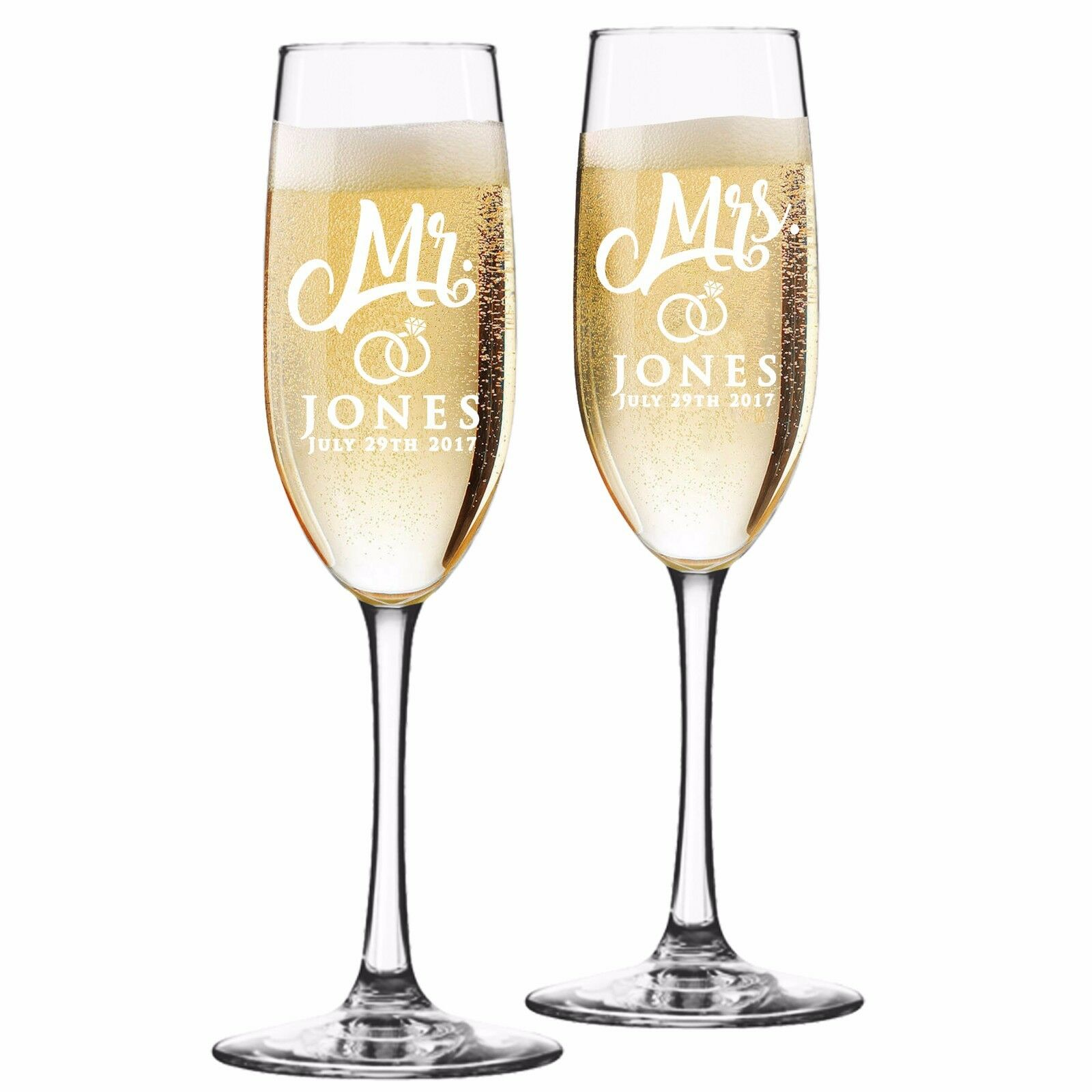 Wedding Gift Champagne Flutes: Custom Engraved Champagne Flutes For Wedding