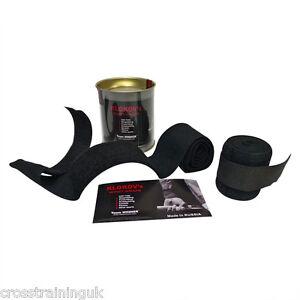 Klokov Winner Weightlifting Elastic Wrist Support Bandage Extra Long Black Cross