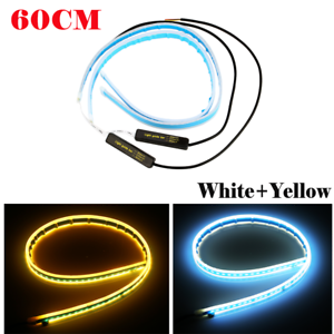 Ultra-Thin-60cm-Car-Soft-Tube-LED-Strip-Daytime-Running-Light-Turn-Signal-Lamp