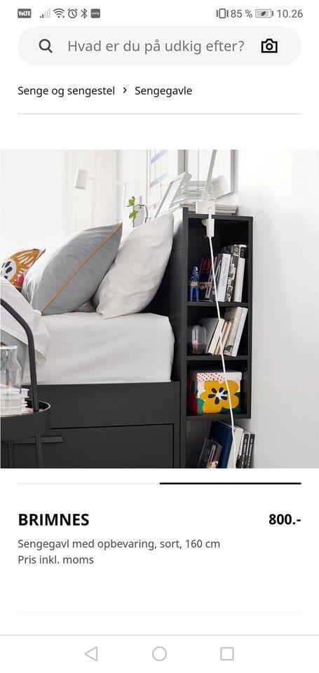 Sengeramme, Ikea, b: 28 l: 166 h: 160