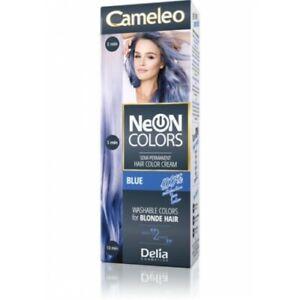 DELIA-CAMELEO-NEON-Semi-permanent-Hair-Color-Cream-Blue-60ML