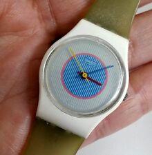 Vintage 1985 Ice Mint Swatch Watch Ladies LW105 Quartz Rare
