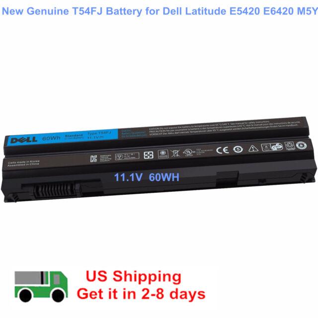 Genuine 60Wh T54FJ Battery Dell Latitude E5420 E6420 E6520 PRRRF M5Y0X NHXVW NEW