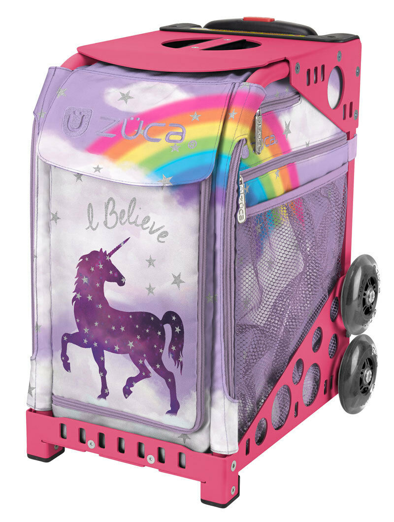ZUCA Bag UNICORN2 Insert & Pink Frame w  Flashing Wheels - FREE SEAT CUSHION  team promotions