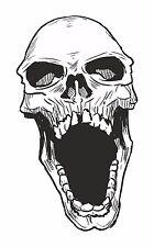 Skull sticker for Bumper Motorcycle Gas Tank Car Book Guitar Locker Helmet #17