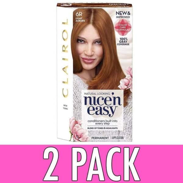 Clairol Nice N Easy Hair Color Natural Light Auburn 110