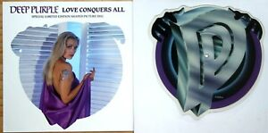 MINT-DEEP-PURPLE-LOVE-CONQUERS-ALL-Shaped-VINYL-Picture-Pic-Disc