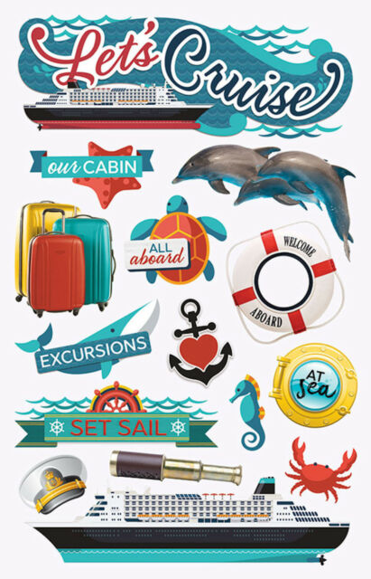 Paper House Lets Cruise Travel Vacation Dimensional 3d Scrapbook