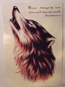 Temporary-Body-Art-Arm-Howling-Wolf-Leg-Tattoo-Sticker-Man-Women-Waterproof