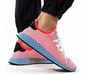 buy popular 5ba57 75fa1 Image is loading New-ADIDAS-Originals-Deerupt-Runner-Sneaker-Mens-red-