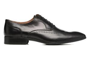 Hombre-Marvin-amp-Co-Romford-Zapatos-Con-Cordones-Negro