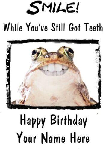 Grenouille Grenouilles Crapaud Joyeux Anniversaire pidfrogs A5 Personnalisé Carte de vœux sourire Carte