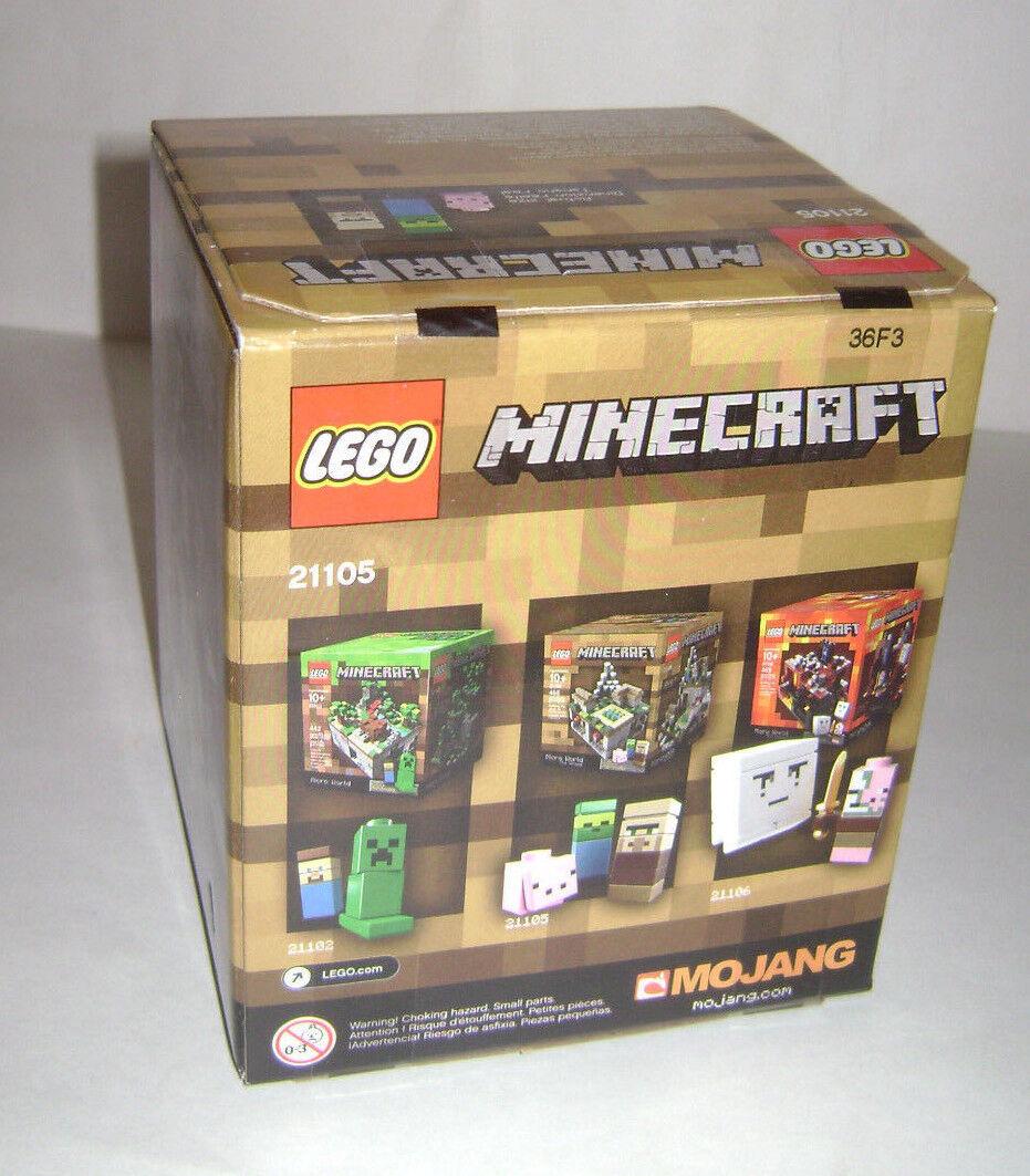 Nuevo 21105 Minecraft Lego Juguete de construcción micromobs Micro Mundo aldea un jubilado