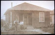 SISKIYOU CA ~ 1900's FAMILY GILSTRAP HOME RESIDENCE ~UNCLE ~ WIFE & CHILD ~ RPPC