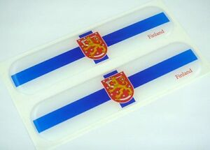 "4/"" Finnish Flag Vinyl Decal Bumper Sticker Finland FIN FI Euro Macbook Car Decal"