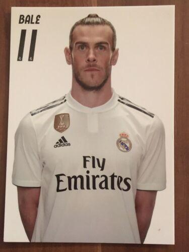 Offizielle Autogrammkarte AK *GARETH BALE* Real Madrid Saison 18//19 2018//2019