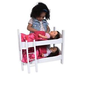 Doll Bunk Bed 18 American Girl Dolls Furniture Wooden Ladder