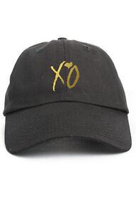 XO Custom Unstructured Dad Hat Adjustable Cap Abel New-Black w  Gold ... bb3d9db7df9
