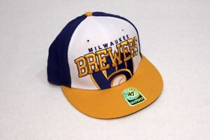 a7755e5ff7e5f Image is loading Milwaukee-Brewers-039-47-Brand-MLB-Adjustable-Cap-