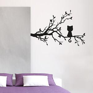 Wandtattoo-Katze-Blaetter-Baum-Ast-Aufkleber-Wand-Tattoo-2136