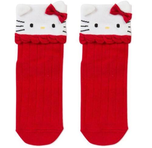 Super Cute Hello Kitty Socks Girls Women Ladies Floor Cotton Socks Red