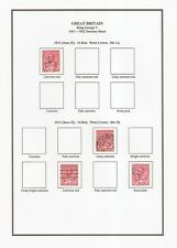 Kgv-specialised Tonalità / varietà filigrana / specimen-album pagine per print-pdf