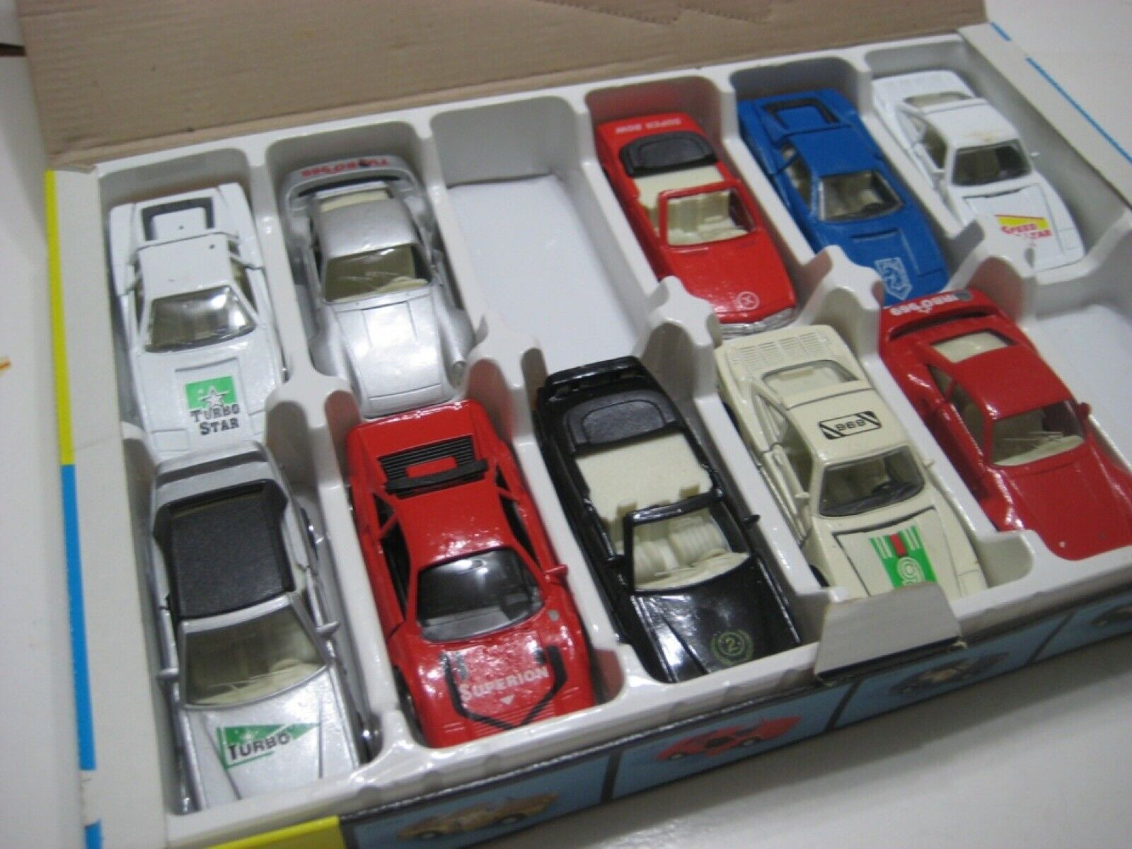 Super Road King Set - 10 European Cars Diecast Friction