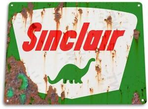 Sinclair-Gas-Rust-Dino-Oil-Metal-Station-Garage-Auto-Shop-Tin-Metal-Sign